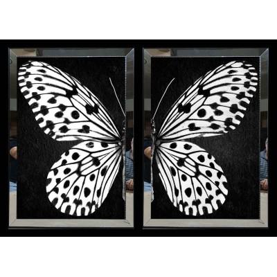 Beyaz Kelebek Aynalı Tablo