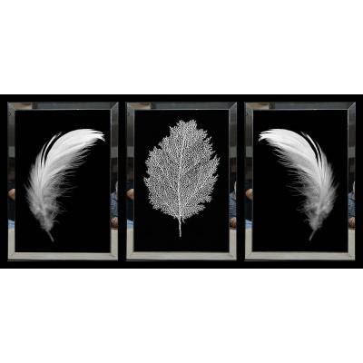Beyaz Tüy Aynalı Tablo