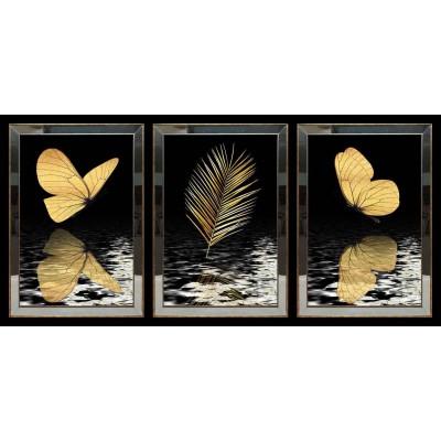 Kelebek Ve Tüy Aynalı Tablo