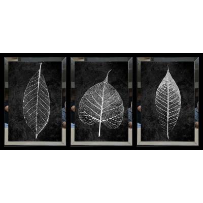 Beyaz Palm Yaprak Aynalı Tablo